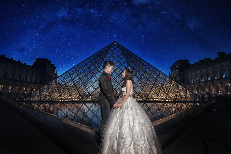 Louvre, Pre-Wedding, Donfer, Flash, Fine art, 夜景, Paris, 巴黎, 羅浮宮, 自助婚紗