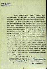 VI/1. Sajó István kérelme: mentesítő okiratot kér, mert a kivételezetteknek nem kellett a gettóba beköltöznie. 6.5_004