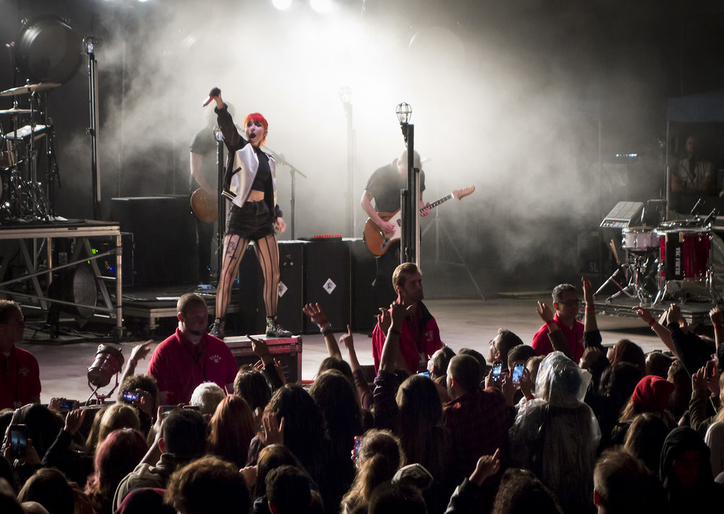 Paramore performing at san diego state university s open air theatre