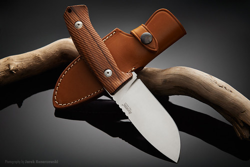 LionSteel M3 ST fixed blade hunting knife.