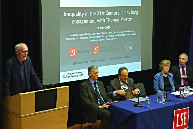 Prof Mike Savage opened LSE's International Inequalities Institute launch with Prof Piketty (delayed due to Eurostar) from RAW _DSC8918
