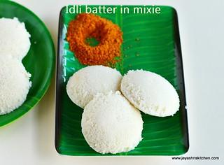 idli batter -mixie