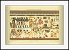 3990 Mey5 Altägyptische Malerei Nubische Häuptlinge bringen dem ägyptischen König ihre Geschenke.   Meyers Konversations-Lexikon 5. Auflage.