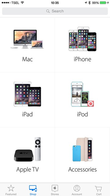 Apple Store iOS App - Shop