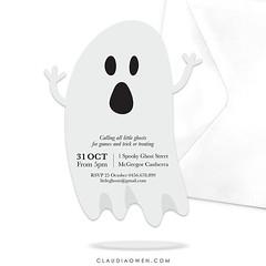 I'm just having too much fun designing Halloween invitations :ghost: #halloween #halloween2016 #partyinvitations #printable #ghost #partysupplies #party