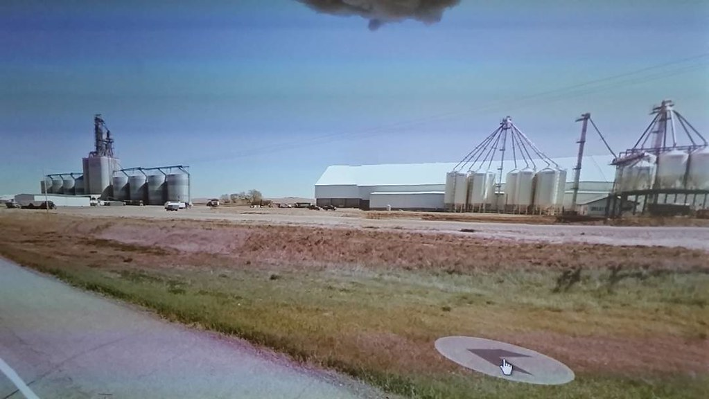 I was biking towards the Southwest Terminal at Gull Lake for ages. It made me think of a massive mirage on the Prairie, but it is really there. #ridingthroughwalls #googlestreetview #xcanadabikeride