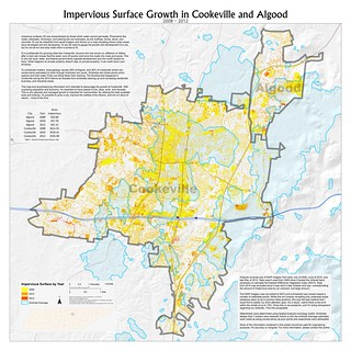 Impervious Surface Growth in Cookeville and Algood (2008-2012)