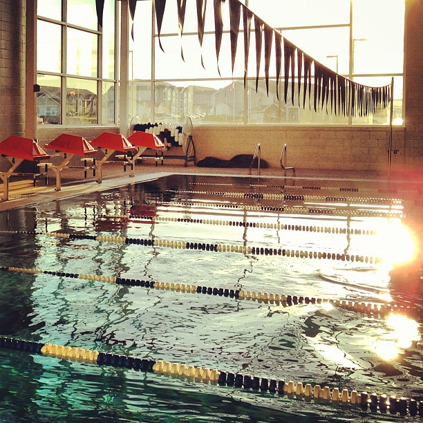 97/365+1 Morning Swim - 30 Laps #sunrise #pool #water #lux #flare #iphone4s