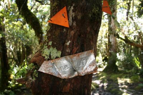 Cone hut sign