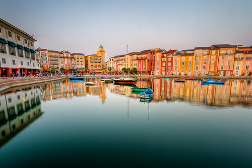 blue sunset water reflections hotel bay boat resort hour portofino loews
