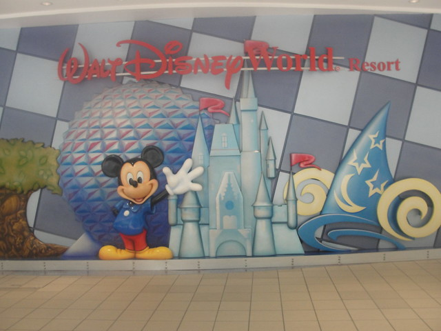 WDW mural at the Earport