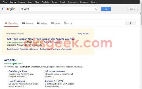 Google new search design