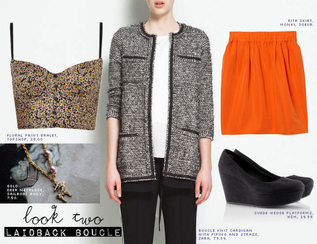 daisybutter - UK Style and Fashion Blog: ways to wear, how to wear boucle, what to wear with tweed jacket, H&M, zara, topshop