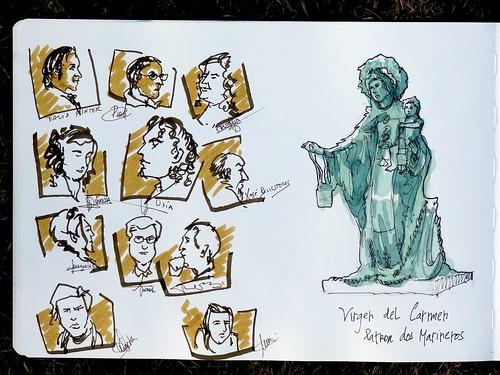 Coruña - faces Virgen Carmen