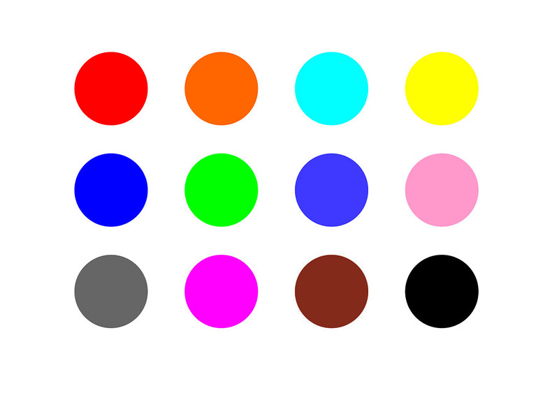 Шаблон-цветные кружки