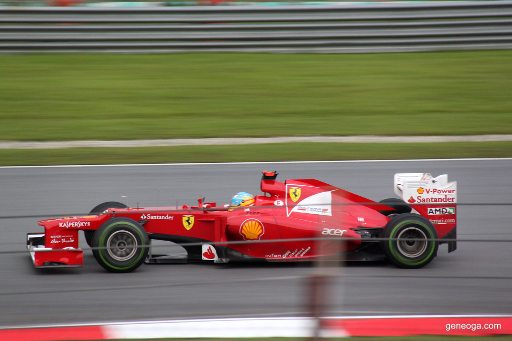 The Ferrari on high speed.
