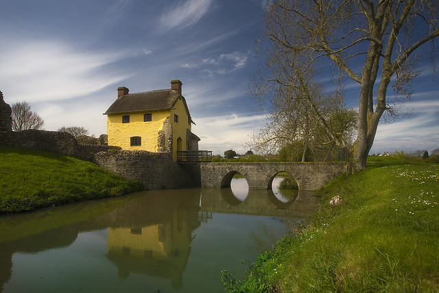 Stogursey castle cottage moat and drawbridge 185 365 for Castle and cottage home collection