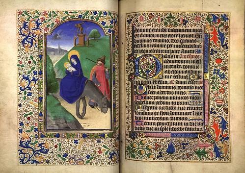 011-Huida a Egipto-Fol. 79 verso-Heures d'Isabeau de Roubaix- Bibliothèque numérique de Roubaix  MS 6
