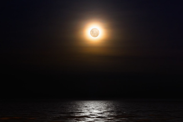 Supermoon and Corona