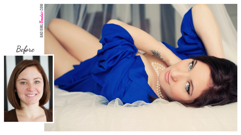 Jacksonville, Florida Boudoir photographer before and after photoshoot