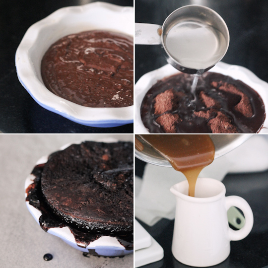 Single Serve Chocolate Self-Saucing Pudding & Butterscotch Sauce