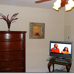 Flat screen TV with DirecTV and DVR
