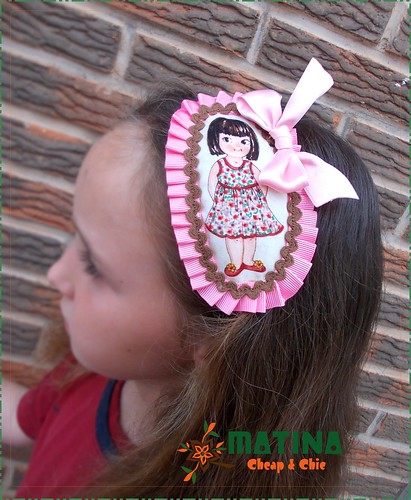 Diadema muñeca vintage