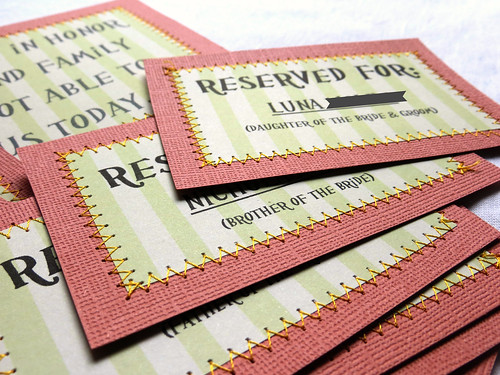 Reserved Tags for Ceremony Seating