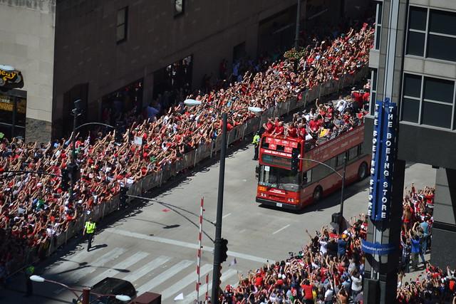 Blackhawks Celebration Parade 2013