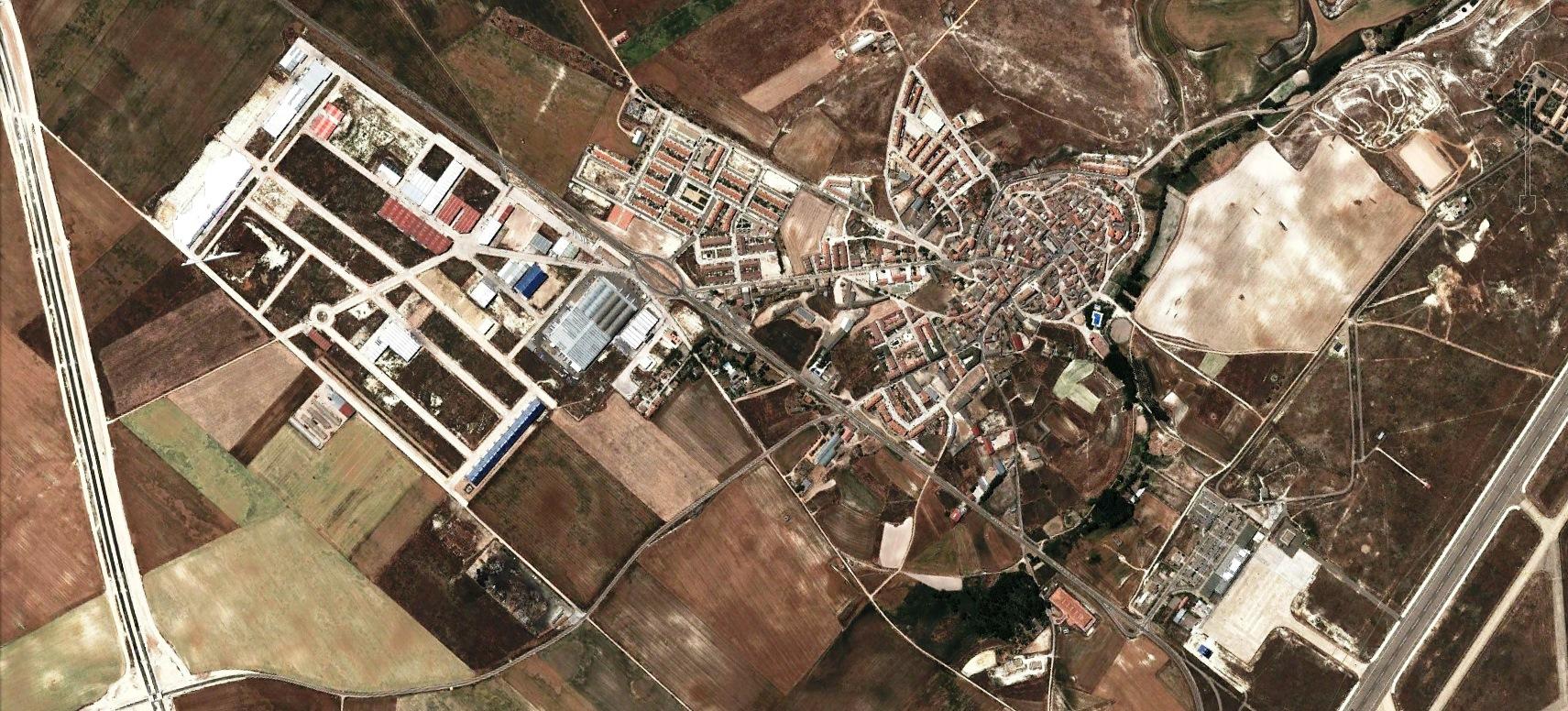 después, urbanismo, foto aérea,desastre, urbanístico, planeamiento, urbano, construcción,Villanubla, Valladolid,aeropuerto