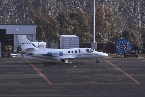 Cessna Citation 501 VH-VPM on the ground at Mount Hotham Airport