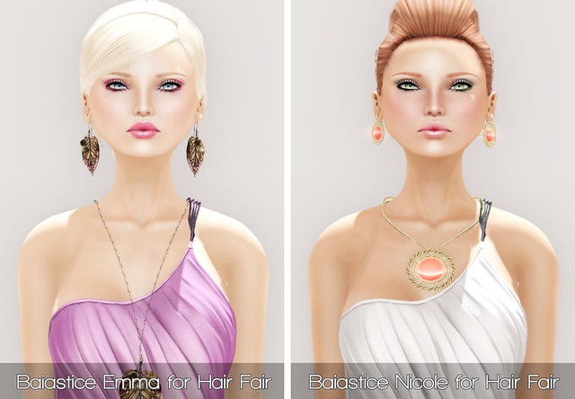 Baiastice Emma & Nicole for Hair Fair 2013 and PXL JADE in PALE and Sun Kissed