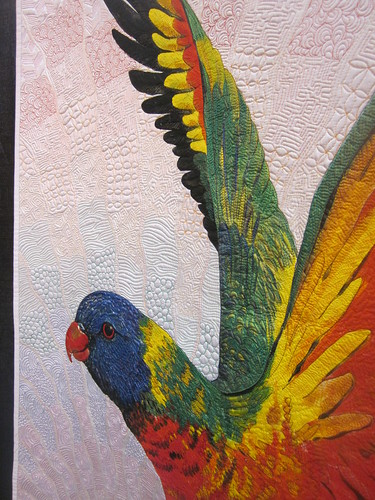 """Rainbow Lorikeet"" by Helen Godden, close up 2"