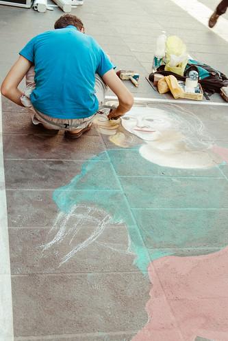 Street artist by Davide Restivo