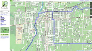 Richmond, Indiana on OpenCycleMap (after)