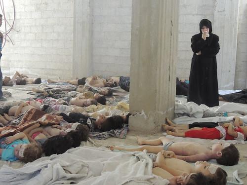 ศพของเด็กๆที่เป็นเหยื่ออาวุธเคมีในครั้งนี้