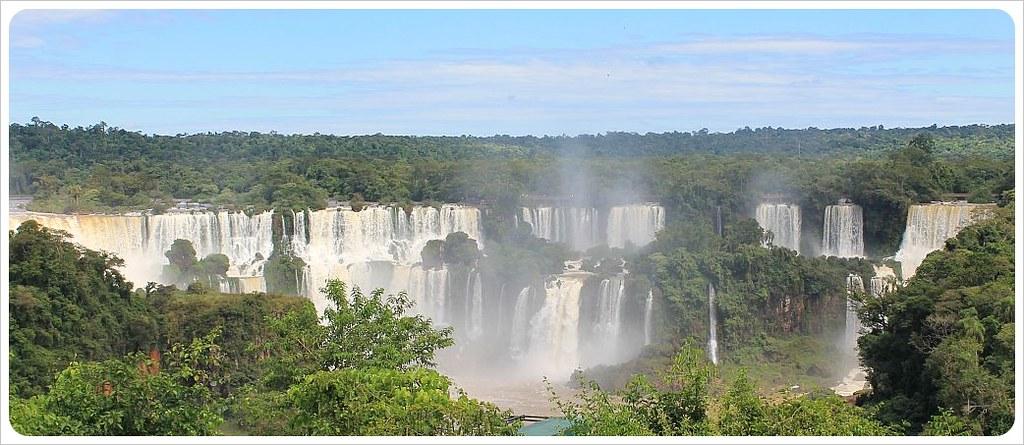 iguazu falls brazil panorama