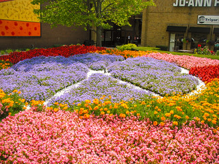 """Concord Mall, Elkhart, IN  """"April Dawn"""" Garden & Jazz It Up mural"""""""