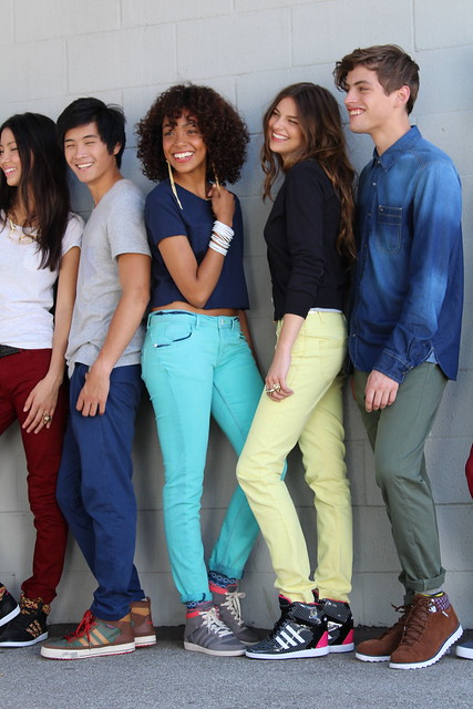 Adidas Neo Chloe Blanchard Kalysse Anthony Shannon O'Connor Maxwell Runko fall campaign shoot Los Angeles lisforlois