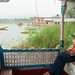 Dan Works at Front of Houseboat on Nagin Lake - Srinagar, Kashmir, India