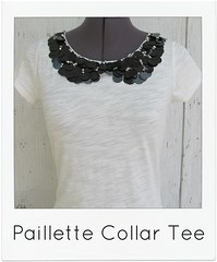 how to make a paillette collar tee