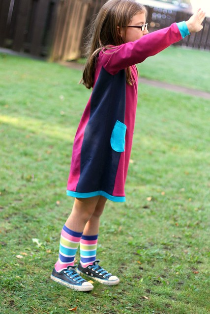 colourblock panel pinafore  side