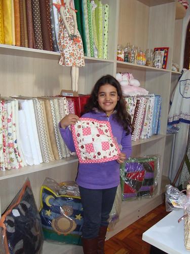 Ana Julia com 9 anos e já fazendo arte by Maringá Patchwork by Ruth Urbinati