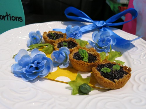 Blueberry Basil Tarts in a Coconut Lemon Crust by Ashley Suave