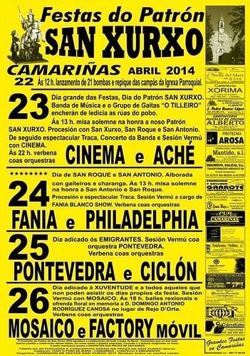 Camariñas 2014 - Festas de San Xurxo - cartel