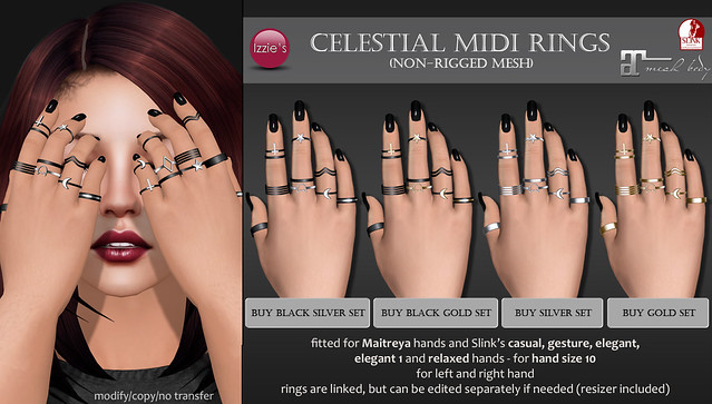 Celestial Midi Rings