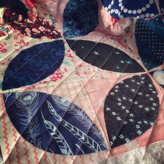 I should be sorry for the gratuitous overgramming of this quilt, but I'm so in love with how it's turning out, I'm really not sorry at all.