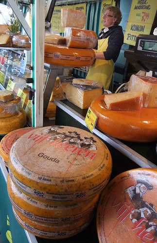 Rounds of Gouda Cheese in in Gouda, Holland