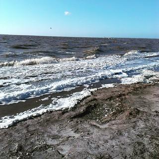 Es gibt tatsächlich Wasser in der #nordsee #Hochwasser #Flut #gezeiten #norddeich #norden