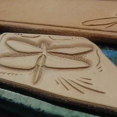 #leatherkeychain #dragonfly #leather #keyfob #instaleather #qualityleathergoods #character